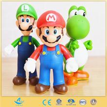Super Mario plastic figure toys hot selling Cartoon OEM plastic figure toys Cartoon action figures