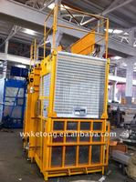 Personalize Twin Cage Construction Hoist Elevator Material Lifts SC200 4.2 x 1.5 x 2.5m