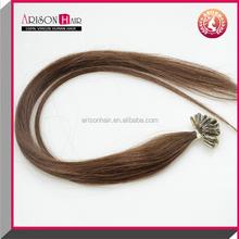 Arisonhair wholesale u-tip hair extensions keratin tipped fusion nail tip brazilian human hair extension 0.8g/1g per strand
