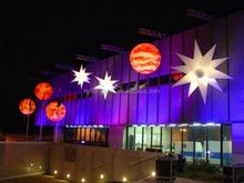 Unique shape inflatable led planet hanging inflatable lighting planet colorful inflatable star