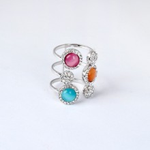 Wholesale Jewelry Colorful Moonstone Ring For Summer