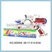 Red & Blue B/O space gun with light guns toy
