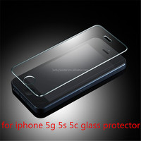 Perfect Premium 50pcs for apple iphone 5 5s 5c Explosion-Proof tempered glass screen protector film 9H tempered glass free ship