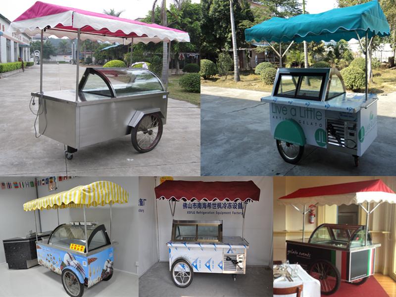 Cr me glac e mobile distributeur kiosque panier sur for Remorque cuisine mobile