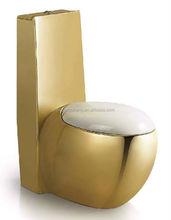 luxury modern bathroom ceramic golden colored one piece toilet