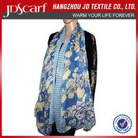 Hot sale factory direct new design ladies silk neck scarf