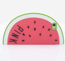 New cartoon case Watermelon cartoon model Silicone cover case For Iphone 5 5S 5C 5G soft rubber cover