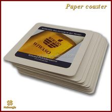 Cheap competitive paper coffee coaster pp fan