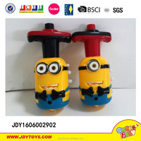 Hot Sale Funny Despicable Me Minion Spin Top W/ light & Music,New Design Spin Top Toy,Despicable Me Minion Toy
