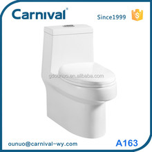 New design ceramic siphonic one piece closet toilet bowl A163