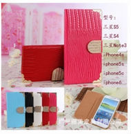 for iphone 6 bling wallet case Luxury handmade flip leather card slot wallet 3d bling case