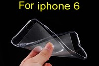 Free Shipping Back cover case ,Simple Clear tpu phone case For iPhone 6