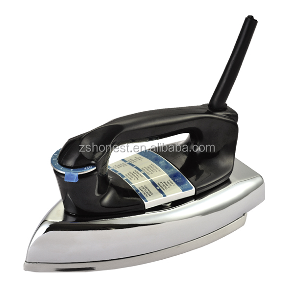 Hot sell in South America JP-78 heavy duty electrical iron 500w 0.6 ~1.2kg non-stick coating/ polished sole plate