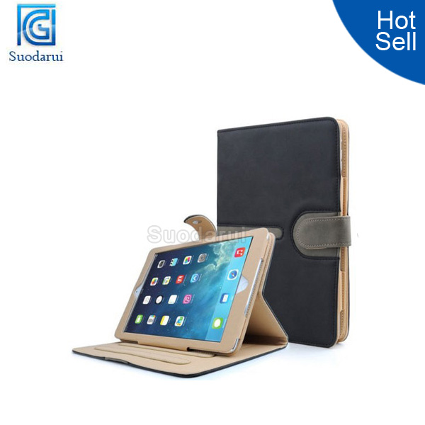 With sleep wake up Function Leather Smart Case Cover for iPad Air 5