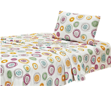 wrinkle free 100% microfiber disperse printing bed sheet sets include flat sheet, fitted, pillow case