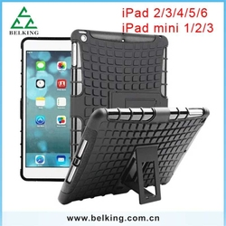 Black With Colorful Plastic Shockproof Covers For iPad 2/3/4/5/6/ Mini Tablet PC Cases