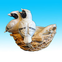 customized artifcial hand painted ceramic bird nest