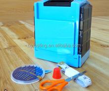 Plastic Folding Compact Sewing Box Big size plastic sewing box Travel sewing kit