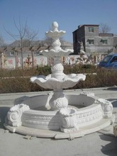Tires Carving Stone Water Fountain