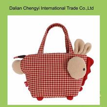 Hand made manual girls cute animal pure cotton shoulder bag