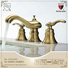 Antique style double handle oil rubbed bronze faucets
