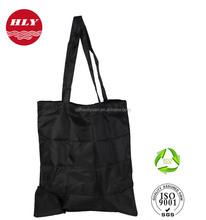 China Factory Wholes Promotion 210D Zipper Nylon Folding Tote Bag