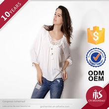 custom lady transparent blouse top