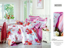 high quality 60S 100% tencel printed and jacquard mixed home textile bedding set