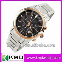 swiss made luxury stainless steel watch for men wih day date