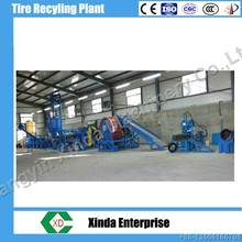 Continuous Waste Tire Recycling Machinery For Rubber Powder Plant