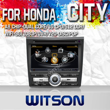 WITSON TAPE RECORDER CAR DVD FOR HONDA CITY 2011 WITH CAPACTIVE SCREEN BLUETOOTH RDS 3G WIFI