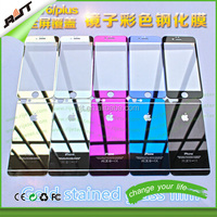 Hot Selling Color Mirror Front Back Tempered Glass Screen Protector For iPhone 6 5.5 plus