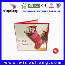 Chinese Factory OEM Production Christmas Card with Wusic