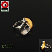 Individual deformación chapado en oro anillos de plata anillos de compromiso anillos racing pigeon