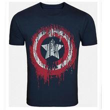 American Shield Navy Blue T-shirt for Men XXL