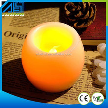 Flamless LED Round Paraffin Wax LED Candle Light