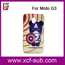 New model case For Moto G3 with free samples case sublimation heat transfer blank case