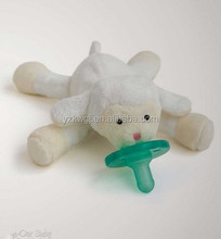 popular stuffed bear plush toy with pacifier animal plush toy with pacifier