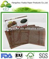 Newspaper printed wax paper