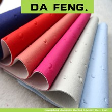 Pu pvc microfiber synthetic leather fabric leather fabric for making bags