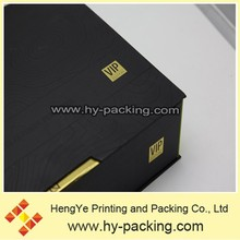 Black stronge paper packing box in dongguan.Custom made high quality paper packing