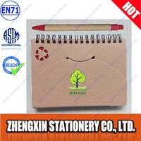 Eco friendly kraft notebook kraft ball pen