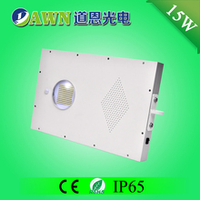 15W high efficiency 2015 new integrated all in one solar led street light lawn lights round fabric