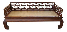 Chinese antique furniture wholesale wood carving sofa arhat bed