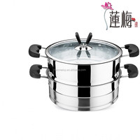 304 Stainless steel double soup pot steam pot hot pot