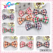 Korea Style Plaid Check Cotton Double Hair Bows for School Girls