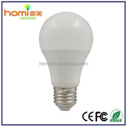 LED bulb light 5w-12w 160 beaming angle E27 B22 A60 plastic+aluminum led bulbs