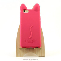 Wholesale candy colors for iphone 6 silicone cute case mobile phone 3d cute koko cat cover case back housing