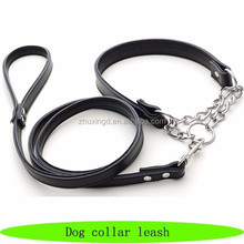 New design genuine leather pet dog collar leash