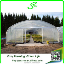 High tunnel greenhouse single span green houses